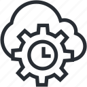 bitcoin, blokchain, cloud, cryptocurrency, mining, technology, time icon