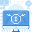 chisel, computer, cryptocurrency, mining, monitor, online, screen