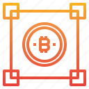 bitcoin, blockchain, cryptocurrency, money icon