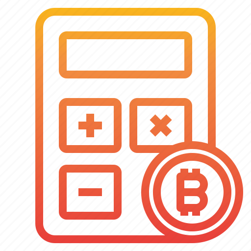 bitcoin, calculator, cryptocurrency, money icon