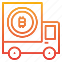 bitcoin, cart, cryptocurrency, money icon