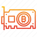 bitcoin, card, cryptocurrency, graphic, money icon