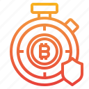 bitcoin, cryptocurrency, money, time icon