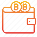 bitcoin, cryptocurrency, money, wallet icon
