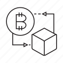 bitcoin, blockchain, box, cryptocurrency, cube, ditital money, money icon