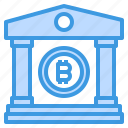 bank, bitcoin, cryptocurrency, money icon