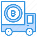 bitcoin, cart, cryptocurrency, money
