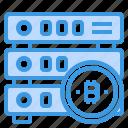 cryptocurrency, money, bitcoin, database icon