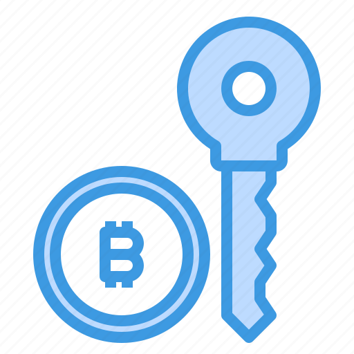 bitcoin, cryptocurrency, key, money icon