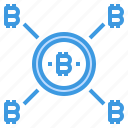 bitcoin, cryptocurrency, money, network icon
