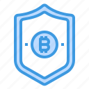 bitcoin, cryptocurrency, money, security icon