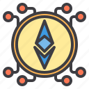 bitcoin, cryptocurrency, ethereum, money icon