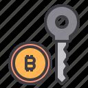 bitcoin, cryptocurrency, key, money