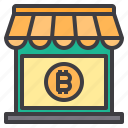 bitcoin, cryptocurrency, money, shopping icon