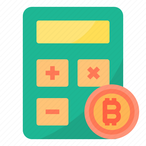 bitcoin, calculator, cryptocurrency, money icon