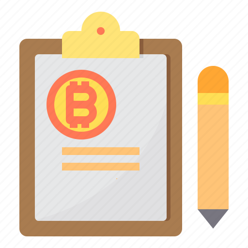 bitcoin, conyract, cryptocurrency, money icon