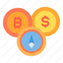 bitcoin, coin, cryptocurrency, money icon