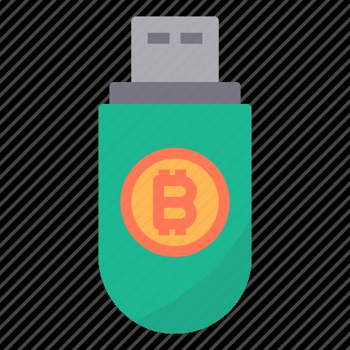 bitcoin, cryptocurrency, digital, key, money icon