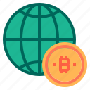bitcoin, cryptocurrency, money, world