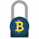 bitcoin, cryptocurrency, cryptoicons, encryption, padlock, protection icon