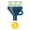 bitcoin, converting, crypto, cryptocurrency, cryptoicons, funnel, money icon
