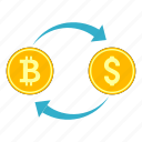 bitcoin, cryptocurrency, cryptoicons, currency, dollar, exchange, money icon