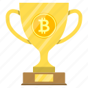 award, bitcoin, cryptoicons, cup, decentralization, winner icon