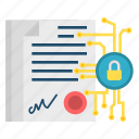 contract, cryptoicons, digital, document, file, page, paper icon
