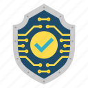 check, cryptoicons, encryption, safe, secure, shield icon