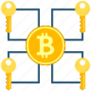 bitcoin, coin, cryptocurrency, cryptoicons, key, multisignature, password icon