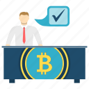 bitcoin, business, cryptoicons, finance, otc, trade, trading icon