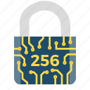 cryptoicons, motion, padlock, protection, security, sha, sha-245 icon