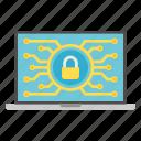 computer, cryptoicons, laptop, padlock, password, security icon