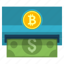 atm, cash, cryptoicons, dollar, money, withdraw icon