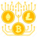 bitcoin, cryptocurrency, cryptoicons, ethereum, litecoin, money icon