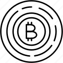 bitcoin, cryptography icon