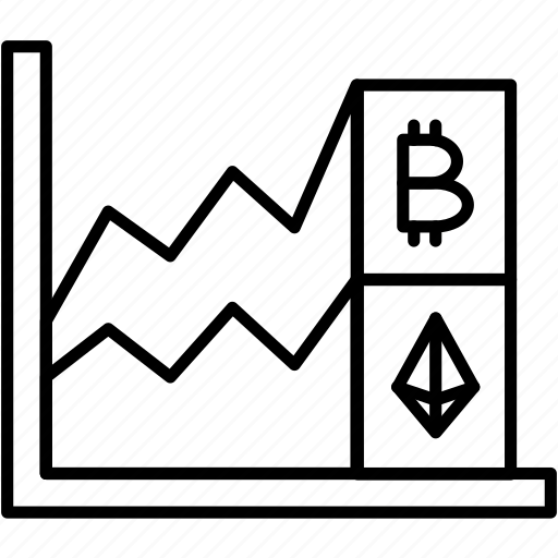 bitcoin, chart, growth, price icon