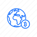 bitcoin, currency, domination, global, network, payment icon