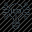 bulb, crowdfunding, cryptocurrency, ico, idea icon