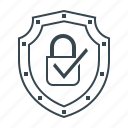 encrypted, lock, protection, security, shield icon