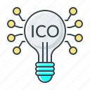 crowdfunding, cryptocurrency, fintech, ico icon