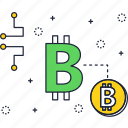 bitcoin, blockchain, crypto, cryptocurrency, sign, technology icon