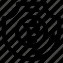 bitcoin, lock, secure icon