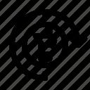 bitcoin, circle, time icon