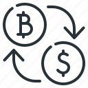 bitcoin, coins, cryptocurrency, currency, exchange, finance, money icon