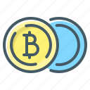 bitcoin, coins, cryptocurrency, currency icon