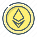 coin, cryptocurrency, eth, ethereum icon