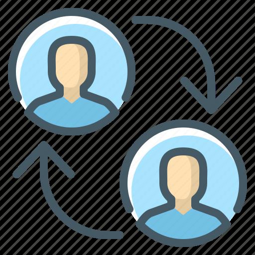 account, account switcher, p2p, peer to peer icon