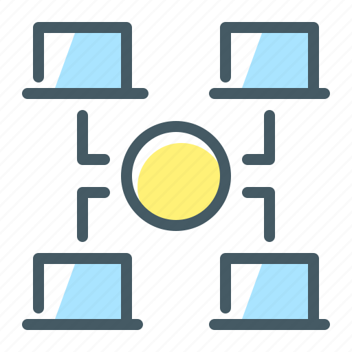 accesses, blockchain, net, network icon