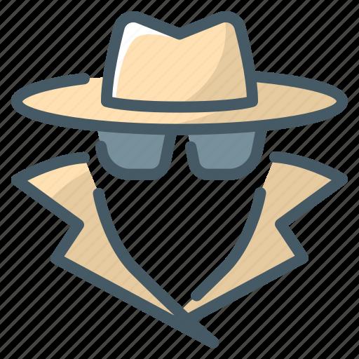 anonymity, anonymous, spy, swindler icon